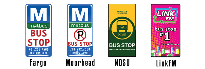 Bus Stop Signs Graphic